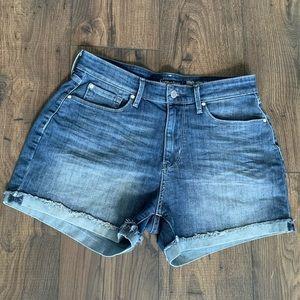 Levi's Signature High-rise Shorts Dark Blue (10)
